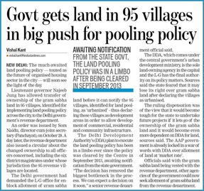 Land Pooling to be made more Foolproof and Transparent- VC, DDA